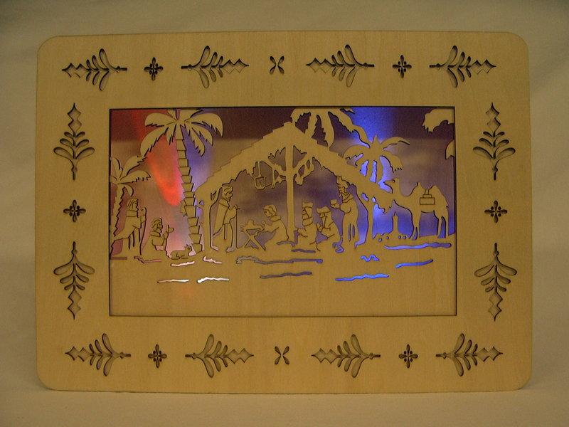 Holz Deko Frühjahr : Weihnachts Holz Deko mit bunter LED eBay